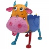 Bright eyes cow metal planter