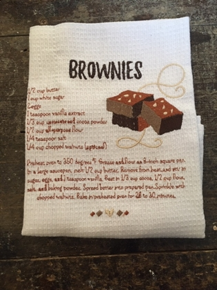 Individual Tea Towel - Brownie recipe