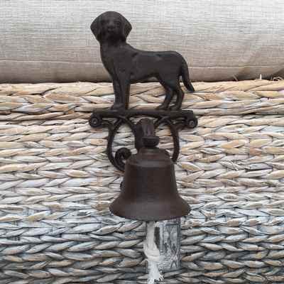 Cast Iron Dog Doorbell