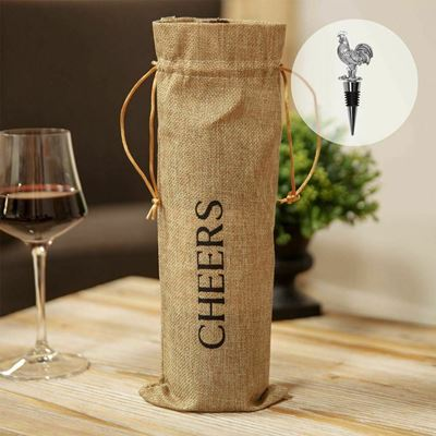 Bottle stopper Gift bag Hen