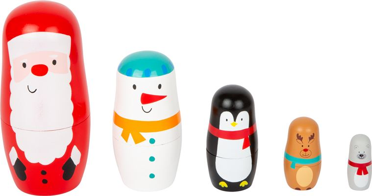 Christmas Wooden Russian Dolls