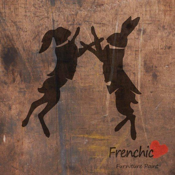 Frenchic Stencil Boxing Hares