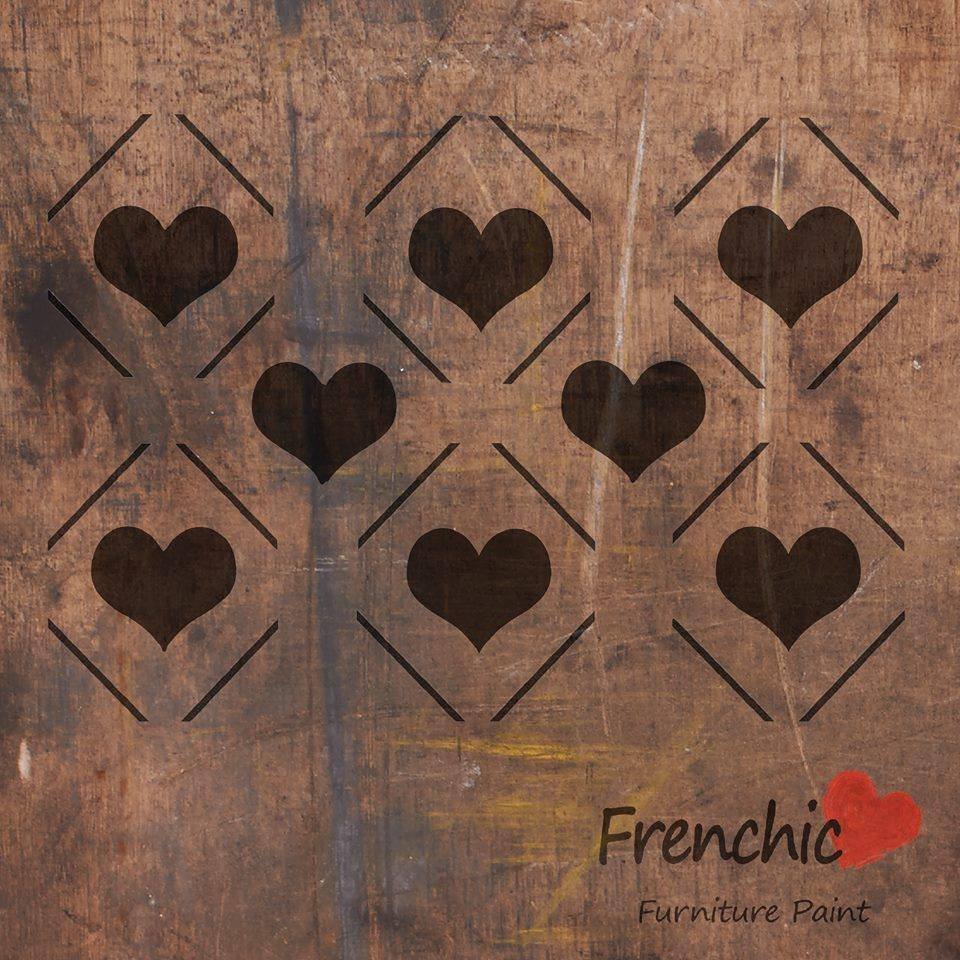 Frenchic Stencil Diamond Hearts