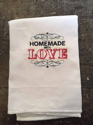 Individual Tea Towel - Love