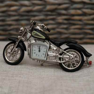 Motorbike clock miniature